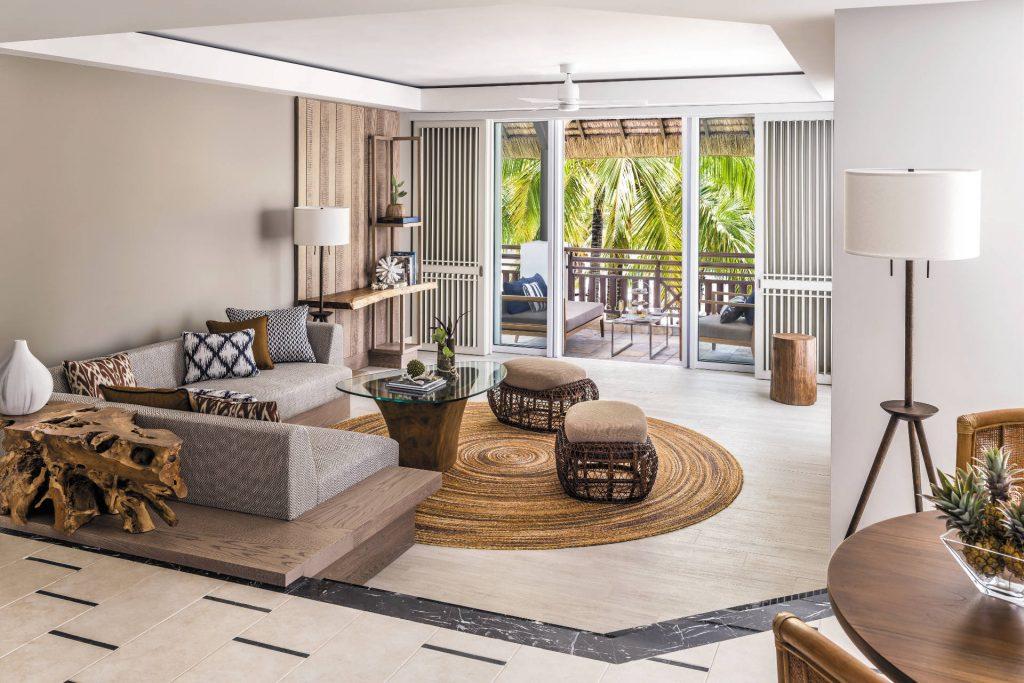 Der komfortable Wohnbereich der Deluxe Suite