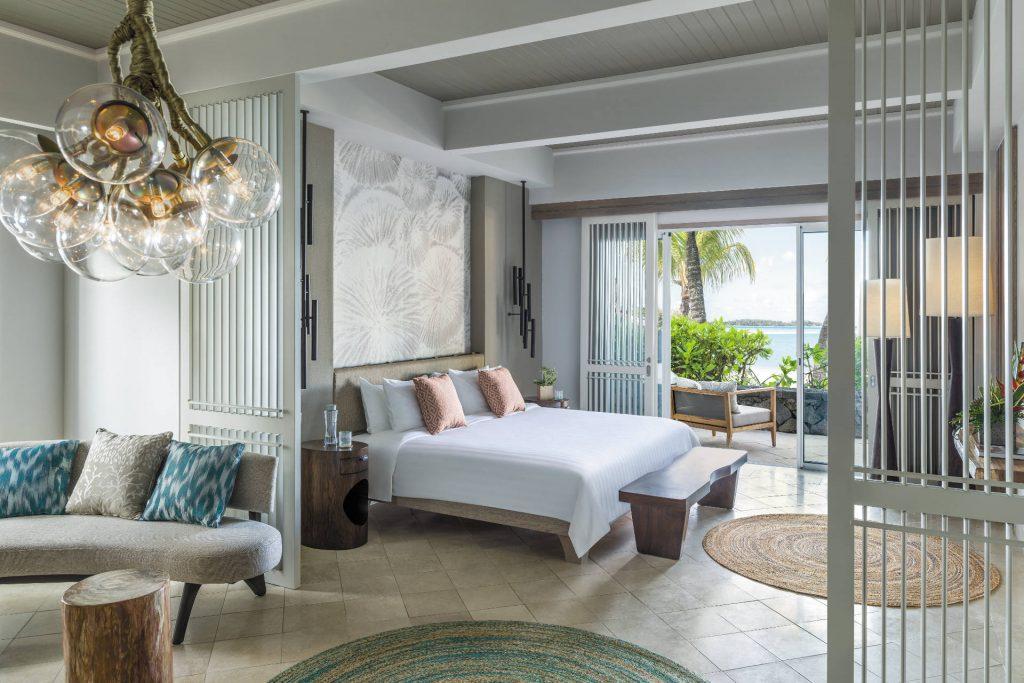 Das große Schlafzimmer in der Shangri-La Suite
